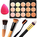 cheap Makeup & Nail Care-15 Concealer/Contour+Concealer Powder Puff Makeup Brushes Wet Matte Shimmer Face Body Whitening Moisture Coverage Oil-control Long