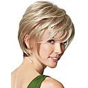 hesapli Makyaj ve Tırnak Bakımı-Sentetik Peruklar Düz Sentetik Saç Peruk Kadın's Şort Bonesiz Sarışın StrongBeauty