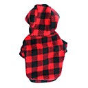 cheap Dog Clothing & Accessories-Cat / Dog Hoodie Dog Clothes Polka Dot / Plaid / Check Rose / Black / Red Polar Fleece Costume For Pets Men's / Women's Fashion
