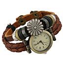 Недорогие Модные ожерелья-Жен. Модные часы Часы-браслет Цифровой Кожа Коричневый Аналоговый Богемные - Коричневый