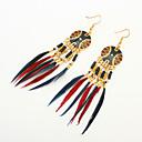 cheap Earrings-Women's Tassel / Beads Drop Earrings - Resin Tassel, Bohemian, European Coffee / Light Blue / Rainbow For Party / Daily / Casual