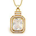 hesapli Takı Uçları-Kadın's Kristal Uçlu Kolyeler - Altın Kolyeler Mücevher Uyumluluk
