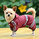 cheap Dog Clothing & Accessories-Dog Rain Coat Dog Clothes Waterproof Solid Yellow Red Green Costume For Pets