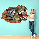 hesapli Duvar Sanatı-Hayvanlar Duvar Etiketler 3D Duvar Çıkartması Dekoratif Duvar Çıkartmaları, Kağıt Ev dekorasyonu Duvar Çıkartması Duvar