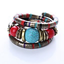 preiswerte Haarschmuck-Damen Armreife - Böhmische, Modisch, Mehrlagig Armbänder Rot Für Weihnachts Geschenke Alltag Normal