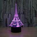 hesapli Mac Stickerlar-3d moda romantik fransa eyfel kulesi led gece lambası rgb değiştirilebilir mood lambası yatak odası masa lambası çocuk arkadaşlar aile hediyeler