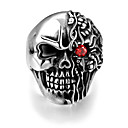 cheap Rings-Men's Ring - Stainless Steel Skull Punk, European 8 / 9 / 10 Silver For Halloween / Gift / Daily