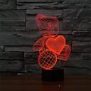 hesapli Dış Ortam Lambaları-1 parça 3D Gece Görüşü USB Kısılabilir 5 V