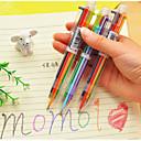 Недорогие Всё для письма и рисования-6-цветные принадлежности шариковая ручка цвет пера школы