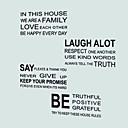 baratos Gadgets & Utensílios de Forno-Autocolantes de Frigorífico - Etiquetas de parede de palavras e citações Vida Imóvel Sala de Estar / Quarto / Sala de Jantar / Removível