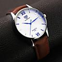preiswerte Uhren Herren-YAZOLE Herrn Uhr Armbanduhr Quartz Leder Schwarz / Braun Analog Klassisch Schwarz Braun