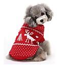 ieftine Imbracaminte & Accesorii Căței-Pisici Câine Pulovere Îmbrăcăminte Câini Ren Rosu Albastru Bumbac Costume Pentru Iarnă Bărbați Pentru femei Keep Warm Crăciun