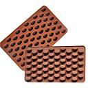 billige Utstyr til kaffe-3d kaffebønner 55 hulrom kaffebønneform sjokoladeform silikon sjokoladeform