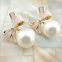 cheap Makeup & Nail Care-Women's Stud Earrings Drop Earrings - Pearl Bowknot Fashion Black / Blue / Pink For Daily Casual