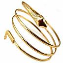 billige Armbånd-Dame Armbånd Slange Bohemisk Dobbeltlags Mode Armbånd Smykker Sølv / Gylden Til Julegaver Fest Daglig Afslappet