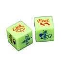 hesapli Oyun Oyuncakları-Zar Parodi Eğlenceli Zar Oyuncaklar Spoof Fun Plastik Romantizm 2 Parçalar Yılbaşı Sevgililer Günü Hediye