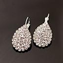 저렴한 귀걸이-여성용 스터드 귀걸이 드랍 귀걸이 - 라인석, 모조 다이아몬드 드롭 사치, 패션 실버 제품 파티 일상 작동