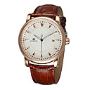 Buy FORSINING Men's Dress Watch Mechanical Calendar Hollow Engraving Automatic self-winding Leather Band Luxury Black Brown