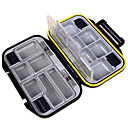 cheap Fishing Boxes-Fishing Tackle Boxes Tackle Box Waterproof 1 Tray Plastic 3 cm 11.5 cm