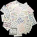 hesapli Makyaj ve Tırnak Bakımı-50 pcs Tırnak Takısı tırnak sanatı Manikür pedikür Çiçek / Klasik Günlük / Nail Jewelry