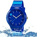 baratos Acessórios para Nintendo 3DS-Relógio de Pulso Quartzo Legal Colorido Plastic Banda Analógico Folhas Doce Casual Azul - Azul Escuro
