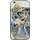 tanie Etui do iPhone-Kılıf Na Apple Etui iPhone 5 iPhone 6 iPhone 6 Plus Przezroczyste Wzór Czarne etui Sowa Miękkie TPU na iPhone 6s Plus iPhone 6s iPhone 6