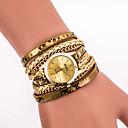 baratos Relógios Femininos-Mulheres Quartzo Relógio de Pulso / Bracele Relógio Legal PU Banda Vintage / Casual / Boêmio / Fashion Preta / Branco / Azul / Prata /