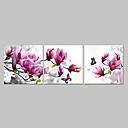 voordelige Stickers & Plakplaatjes-Abstract Drie panelen Kangas Vaakatasoinen panoraama Print Muurdecoratie Huisdecoratie