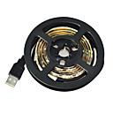 preiswerte LED Lichtstreifen-1m Flexible LED-Leuchtstreifen 60 LEDs 3528 SMD Weiß Wasserfest / Schneidbar / Für Fahrzeuge geeignet 5 V 1pc / IP65 / Selbstklebend