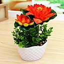 tanie Dekoracja biura-Sztuczne Kwiaty 1 Gałąź minimalistyczny styl Lotos Bukiety na stół