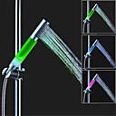 hesapli LED Duş Başlıkları-sds-a13 üç sıcaklık renk sıcaklığı kontrol duş başlığı (abs galvanik) liderliğindeki duş
