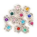 cheap Beads & Jewelry Making-Charms / Pendant - Imitation Diamond Heart, Love Pendant Random Color For Valentine