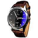رخيصةأون ساعات النساء-YAZOLE رجالي ساعة المعصم كوارتز جلد اصطناعي بني ساعة كاجوال كوول / مماثل كلاسيكي كاجوال - أبيض أسود