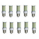 abordables Ampoules Globe LED-10pcs 10 W 850-950 lm E14 / G9 / GU10 Ampoules Maïs LED Tube 69 Perles LED SMD 5730 Imperméable / Décorative Blanc Chaud / Blanc Froid