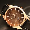 preiswerte Halsketten-YAZOLE Herrn Armbanduhr Quartz Armbanduhren für den Alltag Cool / PU Band Analog Freizeit Modisch Schwarz / Braun - Schwarz Braun