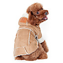 cheap Dog Clothing & Accessories-Dog Coat Hoodie Dog Clothes Solid Colored Coffee Wine Dark Brown Cotton Costume For Winter Men's Women's Keep Warm Fashion