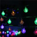 baratos Luminárias de LED  Duplo-Pin-5m Cordões de Luzes 40 LEDs LED Dip Branco Quente Impermeável / Conetável 5 V 1conjunto / IP44