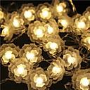 tanie Taśmy świetlne LED-5 m Łańcuchy świetlne 40 Diody LED Dip LED Ciepła biel Wodoodporny / Możliwość połączenia 5 V 1 zestaw / IP44