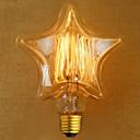 hesapli Akkor Ampuller-1 adet 40 w e27 yıldız retro dim / dekoratif sıcak beyaz akkor vintage edison ampul ac220-240v