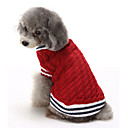 preiswerte Bekleidung & Accessoires für Hunde-Katze Hund Pullover Weihnachten Hundekleidung Einfarbig Rot Blau Baumwolle Kostüm Für Haustiere Herrn Damen Lässig/Alltäglich warm halten