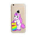 cheap iPhone Cases-Case For Apple iPhone X / iPhone 8 Plus / iPhone 7 Translucent / Pattern Back Cover Unicorn Soft TPU for iPhone X / iPhone 8 Plus / iPhone 8