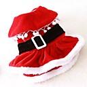 رخيصةأون Xiaomi أغطية / كفرات-قط كلب ازياء تنكرية الفساتين ملابس الكلاب لون سادة أحمر القطبية ابتزاز كوستيوم من أجل ربيع & الصيف الشتاء رجالي نسائي الكوسبلاي عيد الميلاد