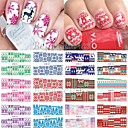 cheap Makeup & Nail Care-new 12 christmas styles water transfer nail art stickers full cover decals snowflake diy decoration for xmas bn241 252