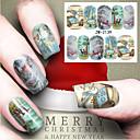 preiswerte Make-up & Nagelpflege-1 pcs Wassertransfer Aufkleber Nagel Kunst Maniküre Pediküre Modisch Alltag