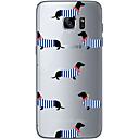 baratos Acessórios de Fotografia para Smartphones-Capinha Para Samsung Galaxy S7 edge S7 Estampada Capa traseira Cachorro Macia TPU para S7 edge S7 S6 edge plus S6 edge S6