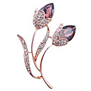 cheap Brooches-Women's Brooches - Crystal Stylish Brooch Jewelry Purple / Blue For Party / Dailywear / Daily / Casual
