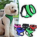 hesapli Köpek Yakalar, Kuşaklar ve Kayışlar-Köpek Koşum Takımı Ayarlanabilir / İçeri Çekilebilir / Nefes Alabilir Solid File / Naylon Kırmzı / Yeşil / Mavi