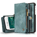 cheap Barware & Openers-Case For Apple iPhone 8 / iPhone 8 Plus / iPhone 7 Wallet / Card Holder / Shockproof Full Body Cases Solid Colored Hard Genuine Leather for iPhone 8 Plus / iPhone 8 / iPhone 7 Plus