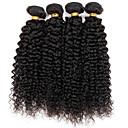 hesapli Kolyeler-3 Paket Düz Brezilya Saçı Kinky Curly Gerçek Saç İnsan saç örgüleri 8-30 inç İnsan saç örgüleri İnsan Saç Uzantıları / Kinky Kıvırcık