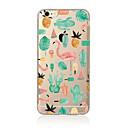 hesapli Küpeler-Pouzdro Uyumluluk Apple iPhone X / iPhone 8 Plus / iPhone 7 Yarı Saydam / Temalı Arka Kapak Flamingo Yumuşak TPU için iPhone X / iPhone 8 Plus / iPhone 8